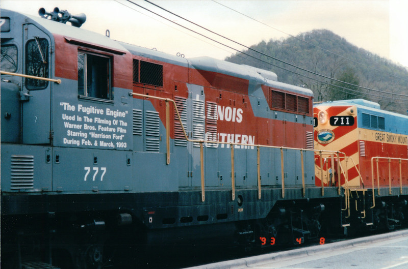 Getting Ready to Go - Great Smoky Mountains Railway - Bryson City, NC  4-7-97<br /> The Fugitive Engine - Used in The Fugitive of the Warner Bros. Feature Film Starring Harrison Ford During Feb. and Mar. 1993.