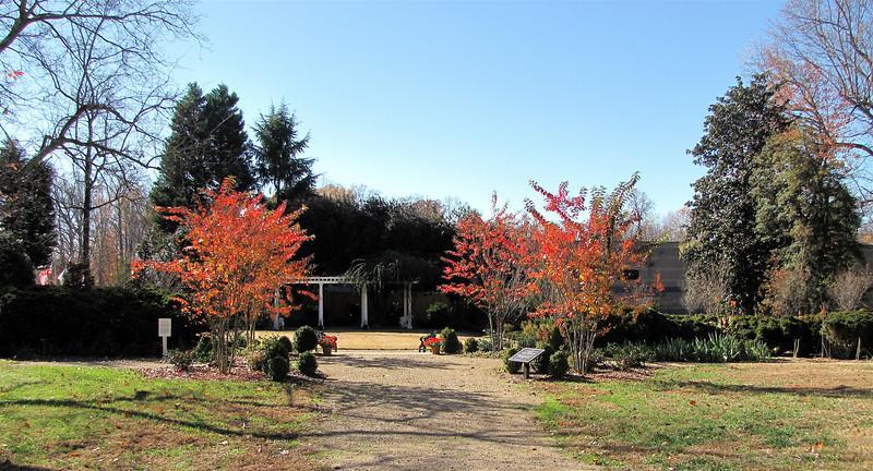 Walking Towards The Formal Gardens - Historic Rosedale Plantation - Charlotte, NC  11-27-10
