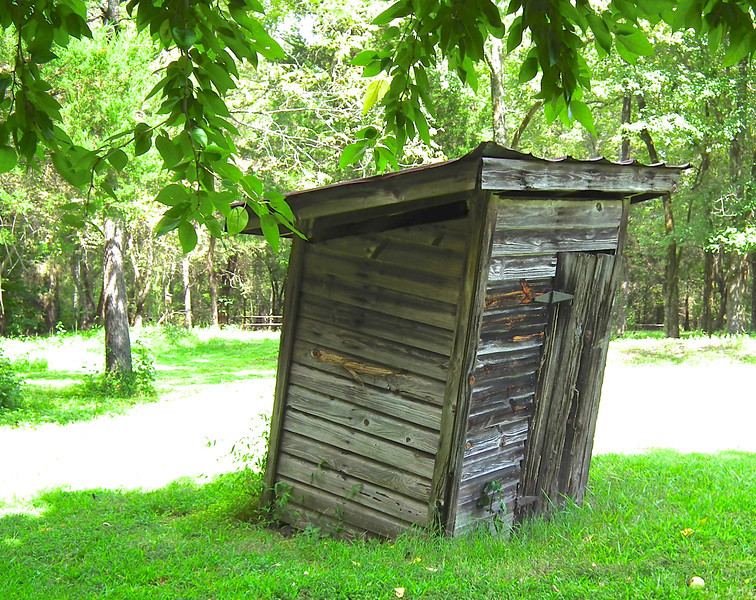 Outhouse Behind the Bennehan Home - Historic Stagville - Durham, NC