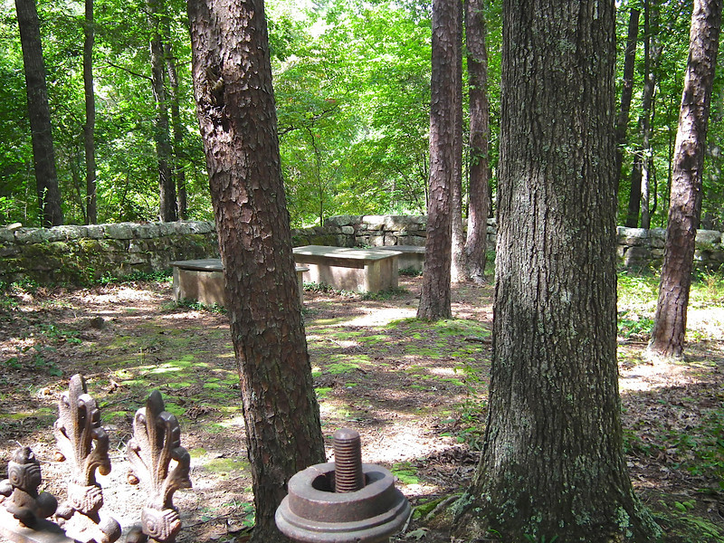 Within the Walls of the Graveyard - Historic Stagville - Durham, NC<br /> The graves of Richard, Mary and Thomas Bennehan are within these walls.