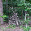 """Different Way to Make a Brush """"Pile"""" - North Carolina Botanical Garden at Univ. of NC at Chapel Hill<br /> Building safe havens for wildlife to run into is part of wildlife gardening."""