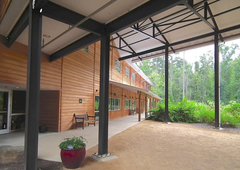 Covered Entrance Area of Education Center - North Carolina Botanical Garden at Univ. of NC at Chapel Hill