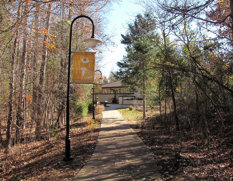 Walkway to the Nature Center - Reedy Creek Park & Nature Preserve - Charlotte, NC  11-27-10