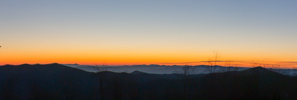 Sunrise/morning on the Blue Ridge Parkway, winter