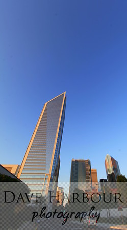Downtown Skyscrapers at Dusk, Charlotte, NC, Photo by Dave Harbour