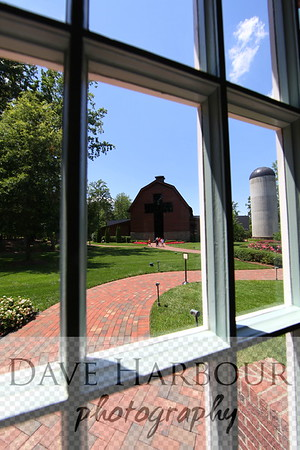 Billy Graham Home and Library, barn from back window, Charlotte, N.C., Photo by Dave Harbour