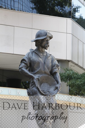 Independence Square, Commerce Statue,  Charlotte, Photo by Dave Harbour