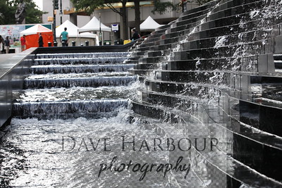 Taste of Charlotte, Bank of America Plaza Water Feature, Charlotte-NC-Photo by Dave Harbour