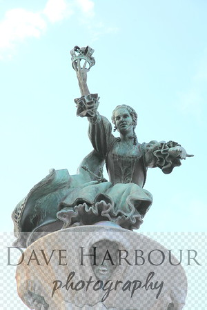 Downtown Art - Queen Charlotte statue at airport by Dave Harbour