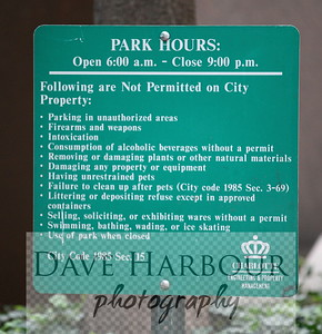 Charlotte has clean parks and streets and this sign is one of the reasons.