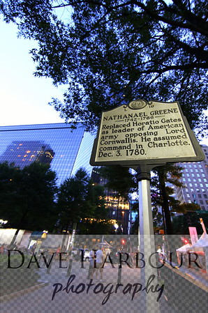 Downtown Charlotte Walk of Histroy, Nathanael Greene, Photo by Dave Harbour
