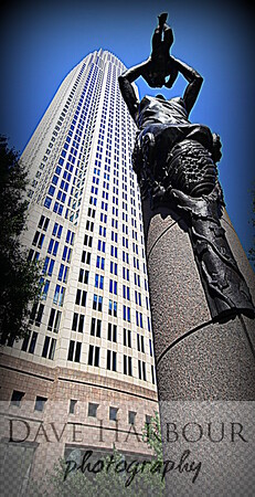 Independence Square, Future Statue, Charlotte, Photo by Dave Harbour