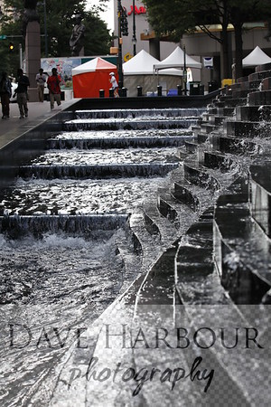 Taste of Charlotte, Bank of America Plaza water feature, Photo by Dave Harbour