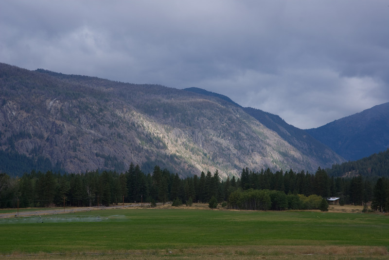 The view from our rented house, Meadow's End, located in Mazama, WA.