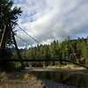 A beautiful suspension bridge over the Methow River, accessible only to bikes and pedestrians.