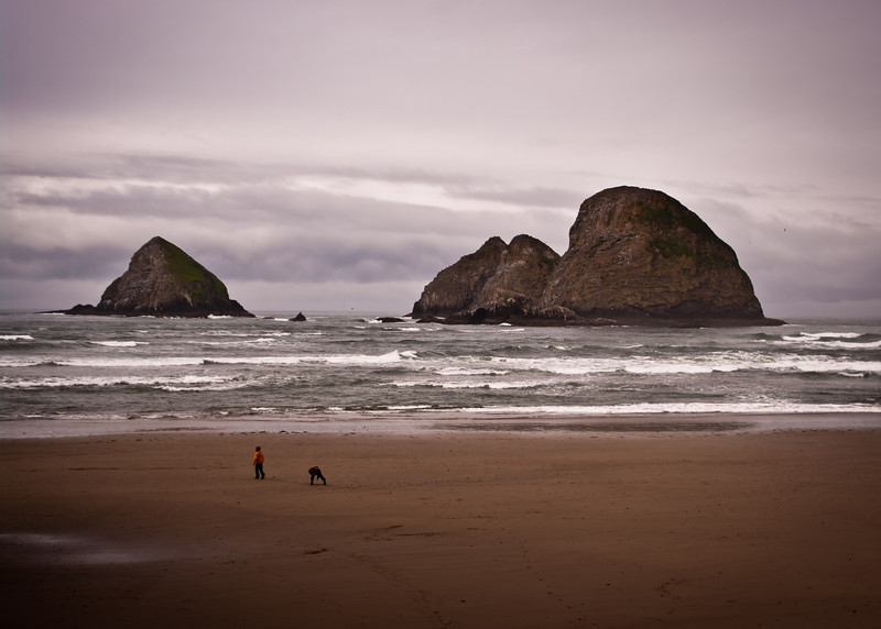 The beach at Oceanside, OR
