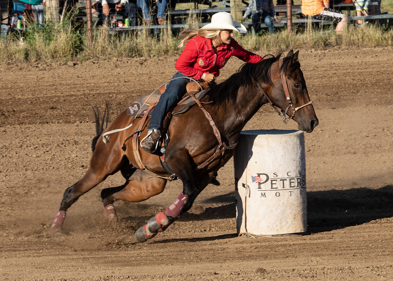 Barrel Racing - Marmarth, ND Rodeo