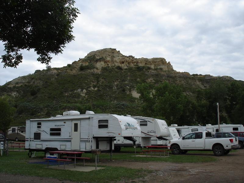 Red Trail Campground, Medora, ND.
