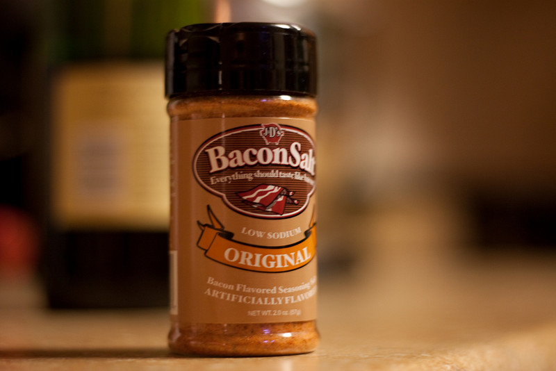Bacon Salt  We just happened across this at the store. Very excited that they sell it here!