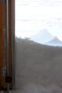From inside my garage this morning