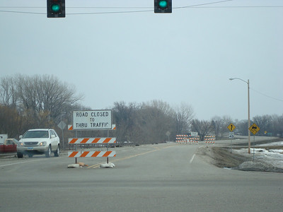 52nd Ave is closed to Moorhead