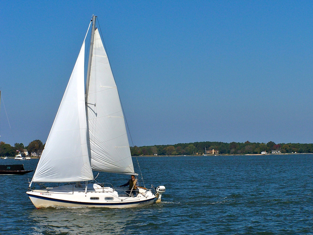 Oxford MD - a man and his sail boat
