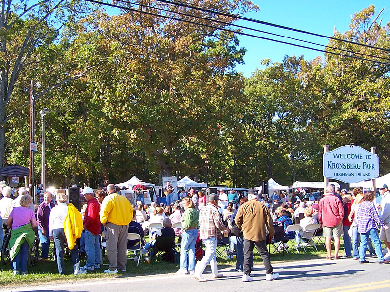 Tilghman Island Day festivities at Kronsberg Park