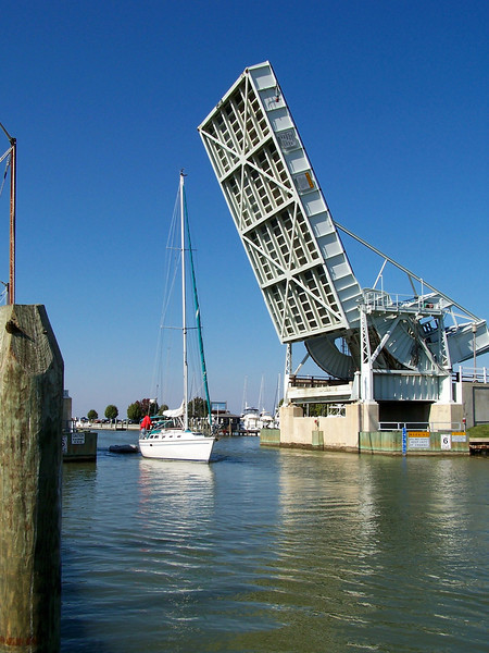 The Drawbridge to Tilghman Island MD.