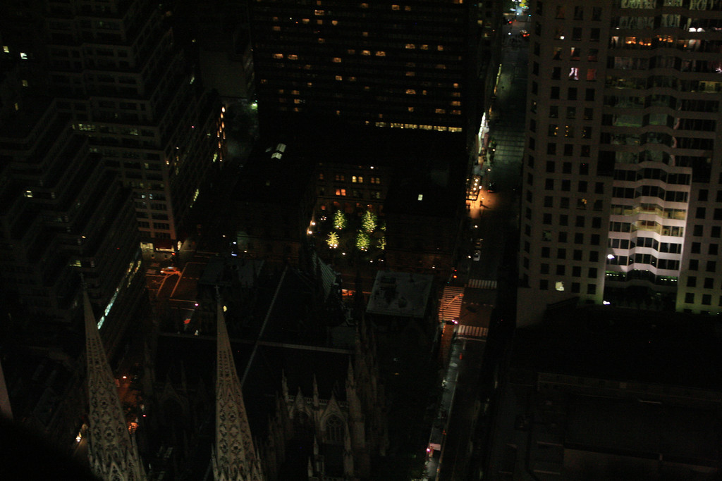Looking down on NYC from the Top of the Rock