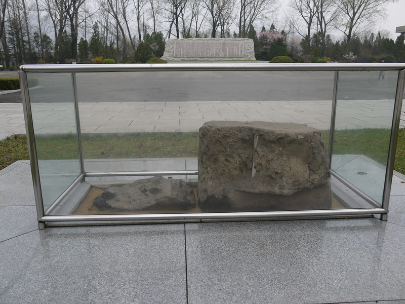 Yes, Kim Il Sung once sat here and talked to the workers at the plant