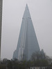 The Ryugyong Hotel is a 105-storey pyramid-shaped skyscraper that is still unfinished, even though construction began in 1987.