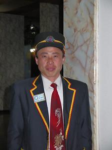 Elevator operator in Hanggu Hotel, Nampho