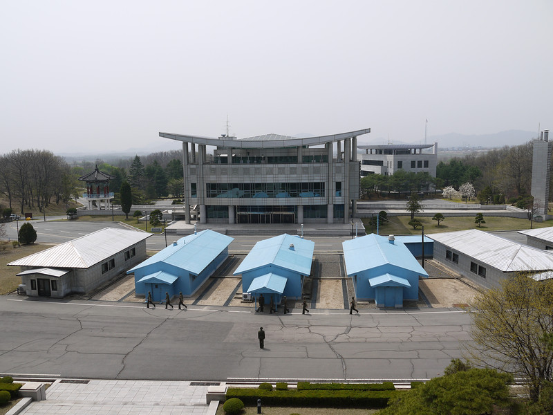 South Korea's building as taken from a similar structure in the North.