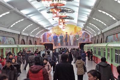 Metro station, Pyongyang, DPRK, Linton Atlas