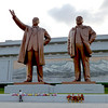 Statues of North Korean Leaders, Pyongyang