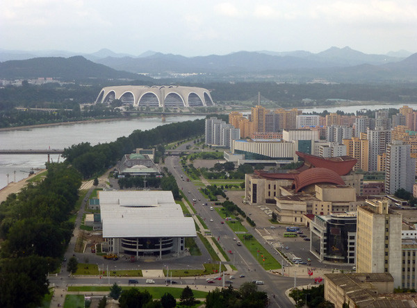 View of May Day Stadium, Pyongyang