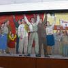 Metro station propaganda in Pyongyang