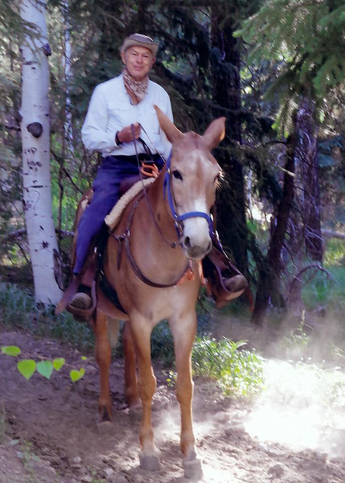 The big mule ride!  So fun!