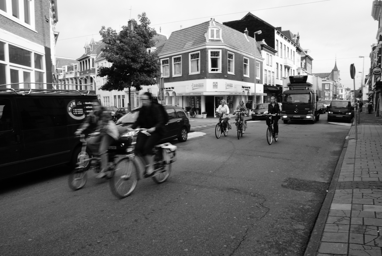 If you didn't know the Dutch like to ride bikes...well, now you know.
