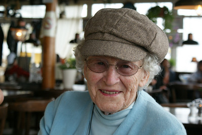 """The Attaché's grandmother, """"Grammy"""", the fastest 84-year old of the Stair Descent Competition at the Guinness Factory brew house in Dublin."""