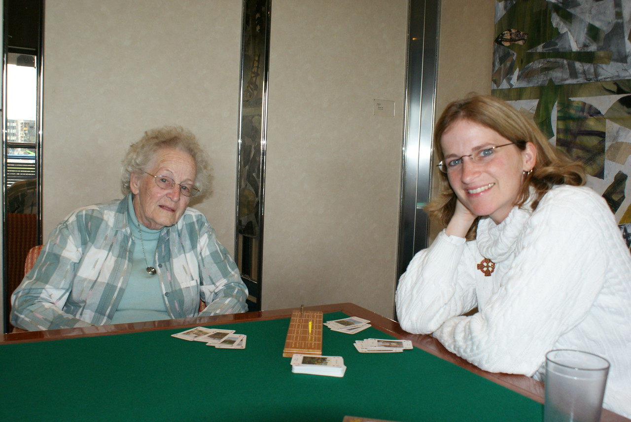 When I got back to the ship Grammy was whooping the Attache's ass in cribbage.