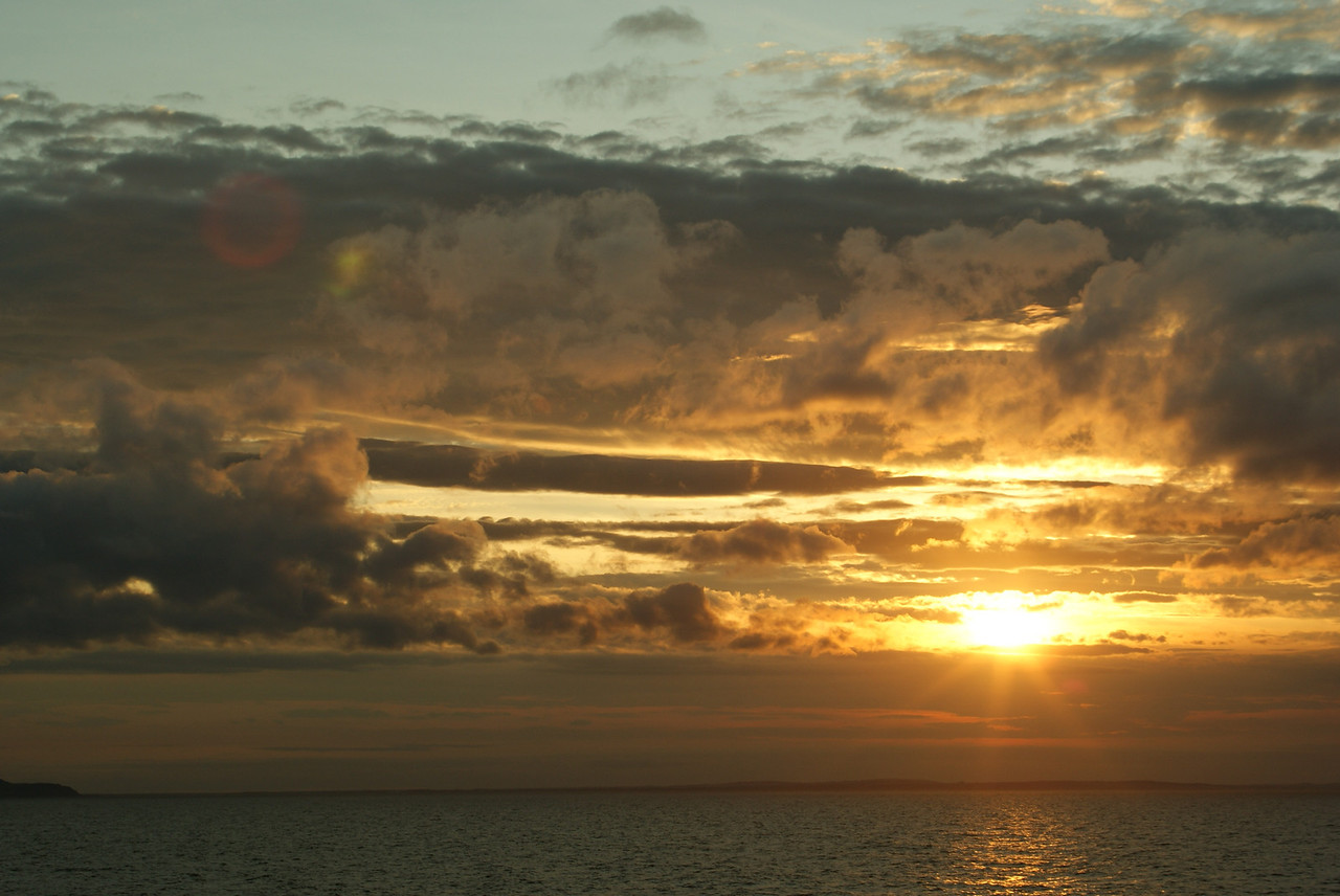 North Sea sunset.