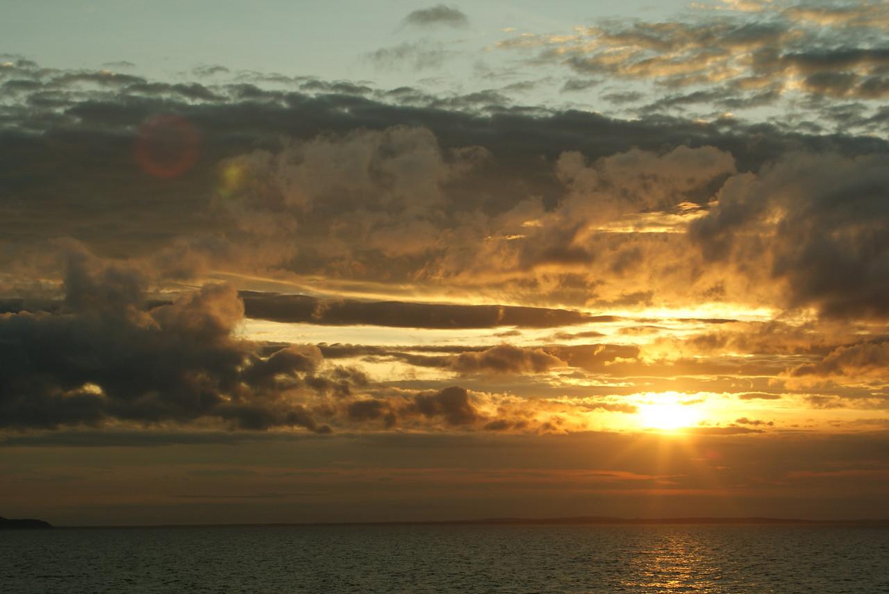 North Sea sunset.