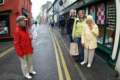 This is in the small fishing village of Kinsale, Ireland. We drove there from Cork.  Valarie was later coached on exactly how to pose for a photo.