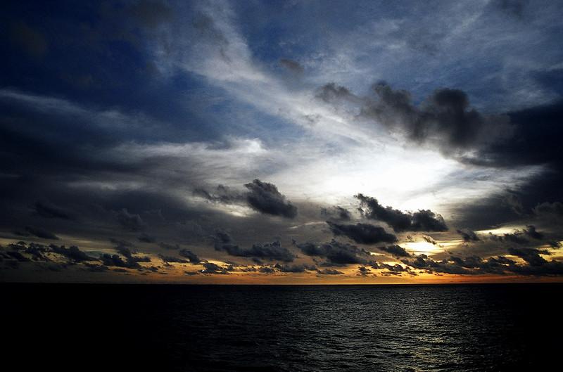 Philippine sea sunset