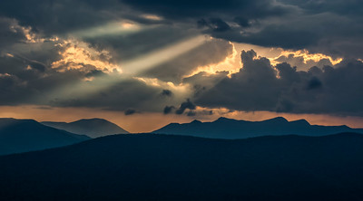 Sunset in the Mountains of North Carolina