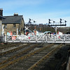Grosmont Level Crossing. Sadly, on the day we arrived at Grosmont, no trains were running.