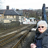 Pam at Grosmont.