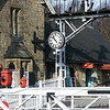 The station clock, salvaged from Northallerton station, is now restored and looking splendid on the Grosmont station building of the North Yorkshire Moors Railway. The clock dates from 1870 and was derelict when saved from Northallerton, probably in the 1960's when railways were closed under the then transport minister, Dr. Beeching.