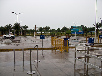 The Iquitos airport is quiet. The early flight is the most reliable from a time perspective. It is less likely to rain! We were told that until recently there was no later flight - voltures were active during the day and would get sucked into the engines